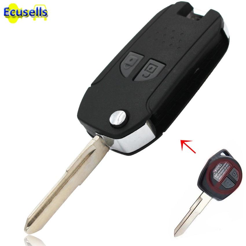 [해외]NEW metal Side Folding flip Remote Key Case Shell for SUZUKI SX4 Swift Vitara Liana Jimny Aerio 2 Button/NEW metal Side Folding flip Remote Key Ca