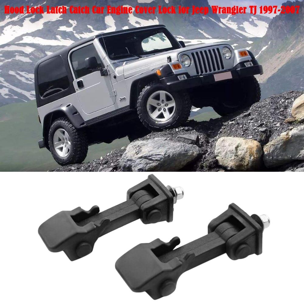 [해외]Hood Lock Catch Car Engine Cover Lock for Jeep Wrangler JK 2008 to 2017 TJ 97 to 07/Hood Lock Catch Car Engine Cover Lock for Jeep Wrangler JK 200