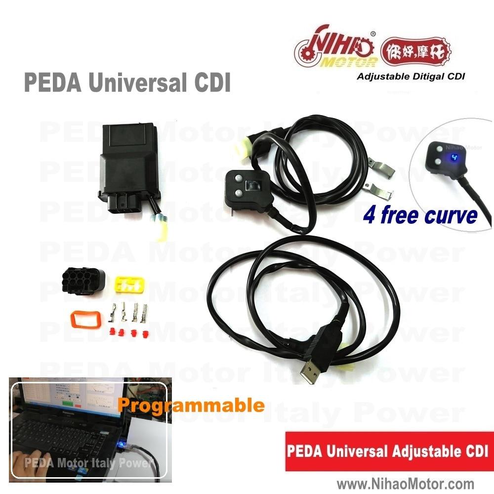 [해외]Universal Fit Racing CDI Programable 8Pin DC cdi 4 Maps Adjustable Digital Motorcycle Scooter Ignition Coil Performance parts/Universal Fit Racing