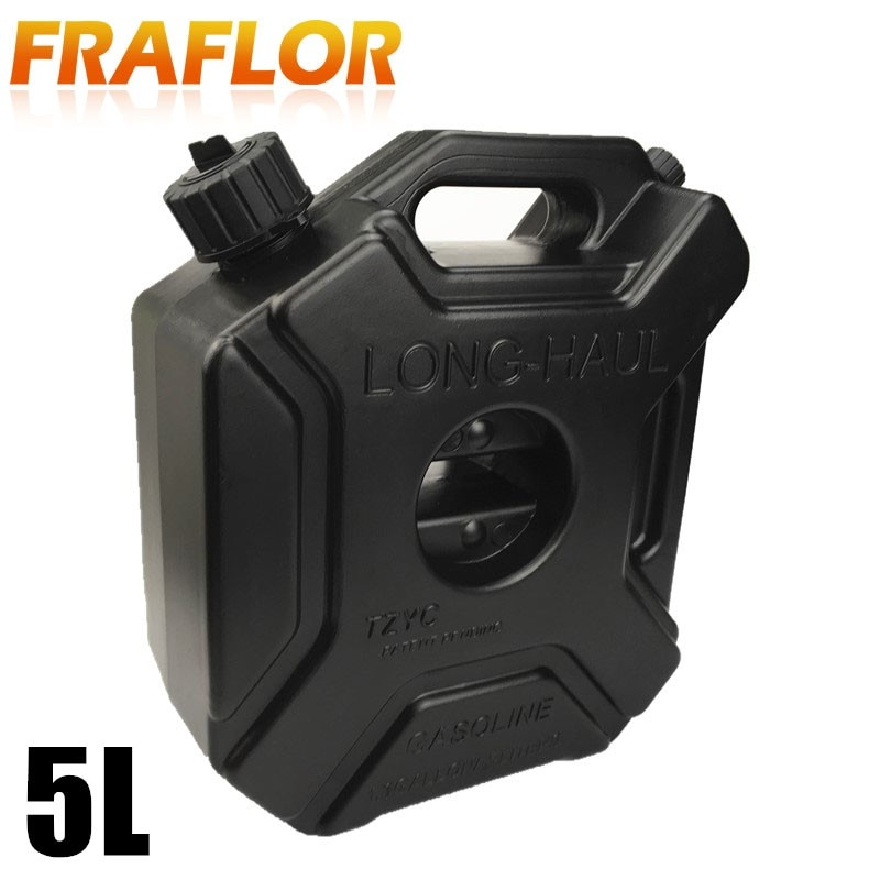 [해외]5 Litre Black Fuel Jerry Can Spare Plastic Petrol Tanks Jerrycan Mount Motorcycle Gas Oil Tanks Mount Car Gas Gasoline Can/5 Litre Black Fuel Jerr