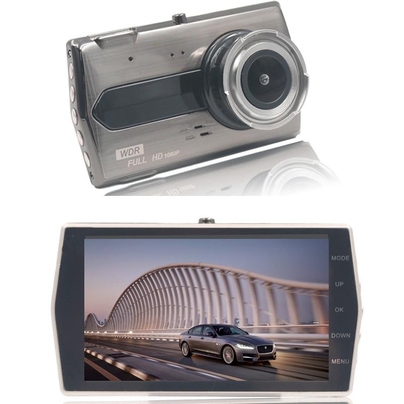 [해외] 1 Set 4 Inch HD Night Vision IPS Screen Auto Car Dash Cam Dual Lens Car DVR Full HD 1080P Vehicle Camera Driving Recorder/ 1 Set 4 Inch HD Night