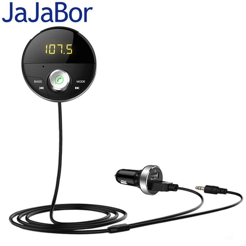 [해외]JaJaBor Bluetooth AUX Handsfree Car Kit 3.5mm Jack AUX Audio MP3 Player Wireless FM Transmitter Auto Music Receiver Car Charger/JaJaBor Bluetooth