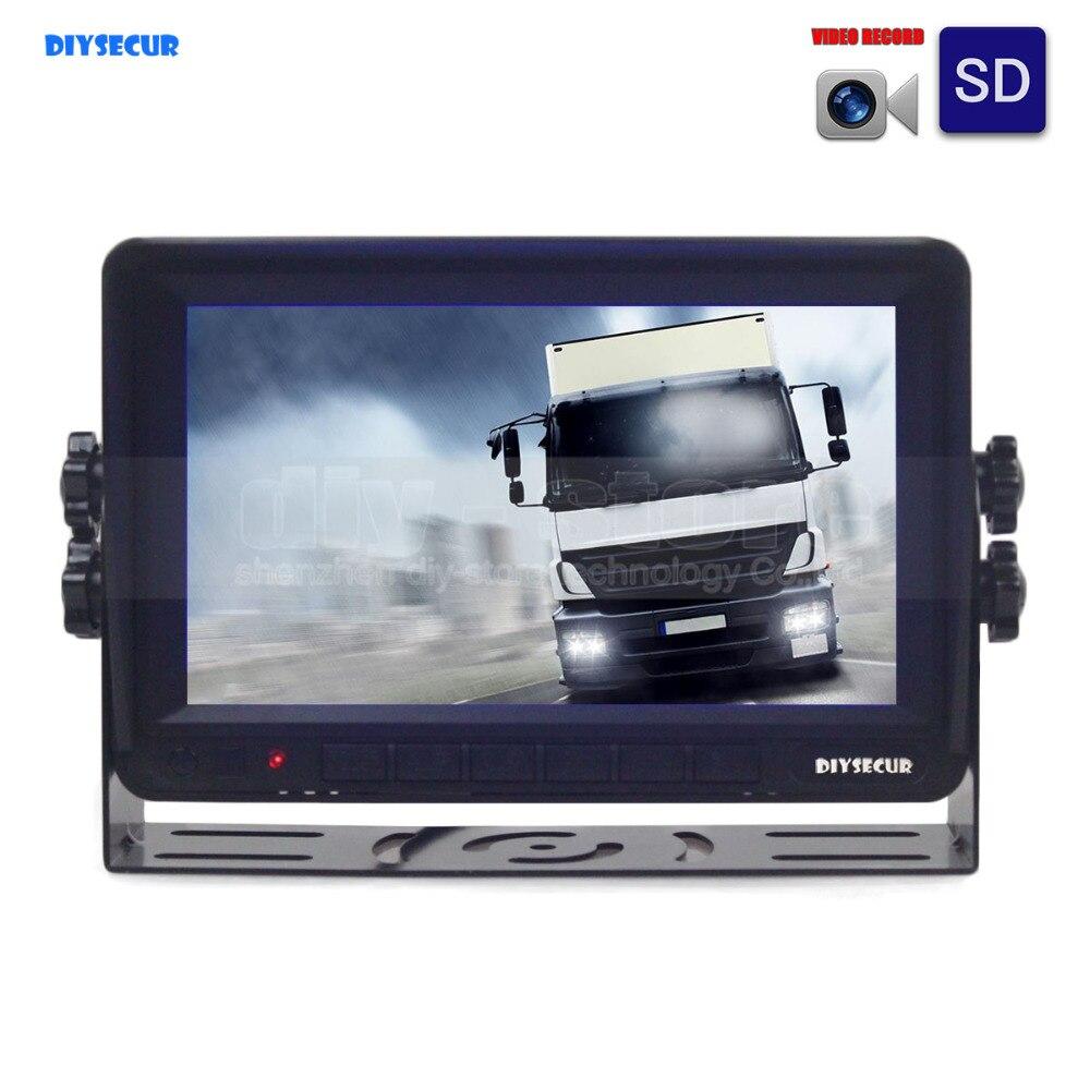 [해외]DIYSECUR AHD 7inch TFT LCD Car Monitor Rear View Monitor Support 1300000 Pixels AHD CameraVideo Recording Founction /DIYSECUR AHD 7inch TFT LCD Ca