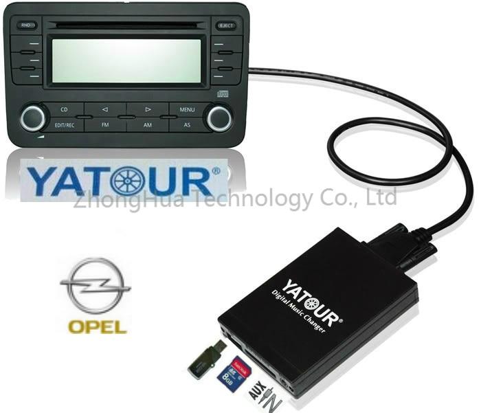 [해외]Yatour Car Audio Adapter MP3 player for Opel Astra H Astra J corsa zafira Captiva Digital music Changer AUX USB SD interface/Yatour Car Audio Adap