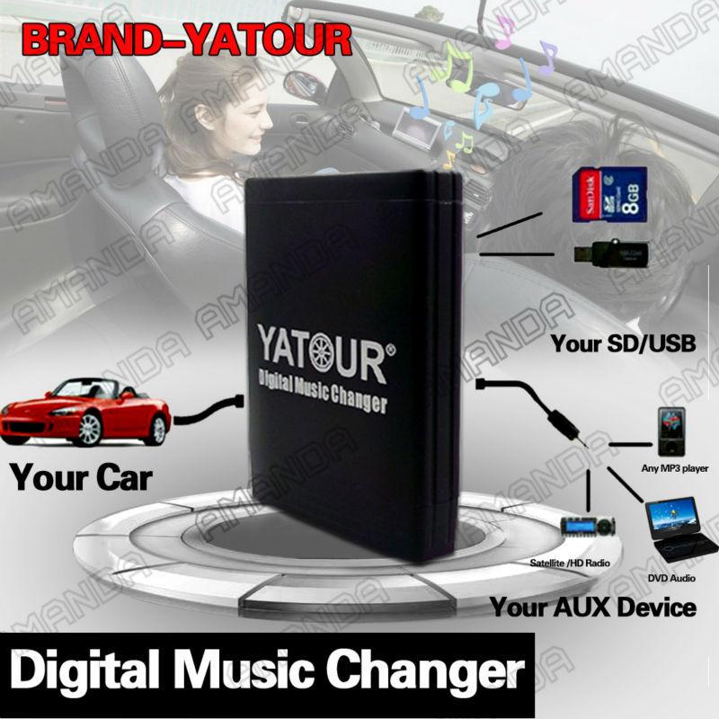 [해외]YATOUR CAR ADAPTER AUX MP3 SD USB MUSIC CD CHANGER 6+6PIN CONNECTOR FOR LEXUS IS200/250/300/350 LS430 RX300/330/350/400h RADIOS/YATOUR CAR ADAPTER