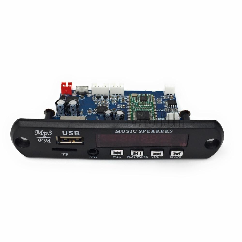 [해외]USB 5V/ 12V APP Control Bluetooth 4.0 MP3 Decoding Board Module TF Card USB FM APE FLAC Decoder Board Digital Red LED/USB 5V/ 12V APP Control Blue