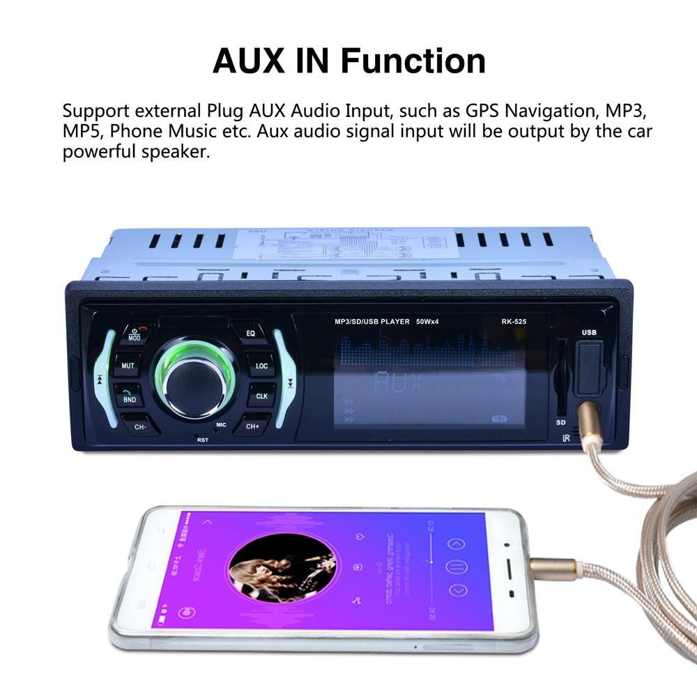 [해외]DC12V USB AUX SD 32GB LIGHT BT CAR MP3 PLAYER 7 Colors Backlight Fixed Panel Car MP3 Player BT FM Radio/DC12V USB AUX SD 32GB LIGHT BT CAR MP3 PLA