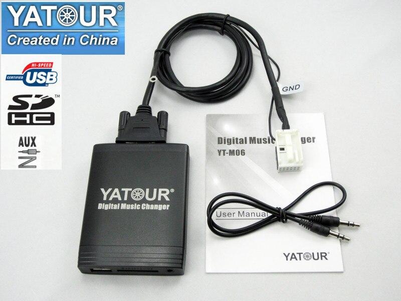 [해외]Yatour YT-M06 for VW passat Jetta Golf Polo Tiguan Audi A3 A4 S4 Skoda Seat Car MP3 Player USB AUX SD Adapter Digital CD changer/Yatour YT-M06 for