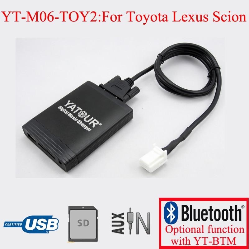 [해외]Toyota lexus scion 6 + 6pin 용 yatour car radio usb sd aux 어댑터/Toyota lexus scion 6 + 6pin 용 yatour car radio usb sd aux 어댑터