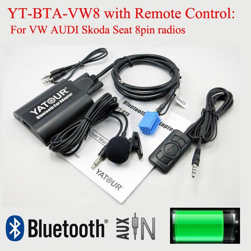 [해외]Vw audi skoda 좌석 8pin 라디오를위한 rmoteo 통제를 가진 yatour bluetooth 음악 decorder bta/Vw audi skoda 좌석 8pin 라디오를위한 rmoteo 통제를 가진 yatour bluetooth