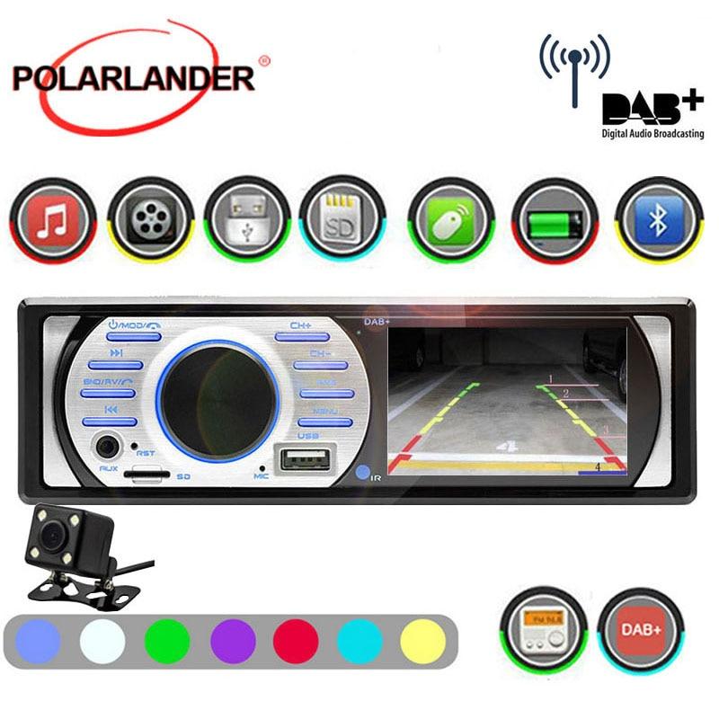 [해외]FM EQ In-Dash Interface 1Din Car Radio Auto Audio Stereo  USB/TF/AUX in DAB+ 12V ISO Contact Bluetooth MP5/WMA Prime 3.0 \