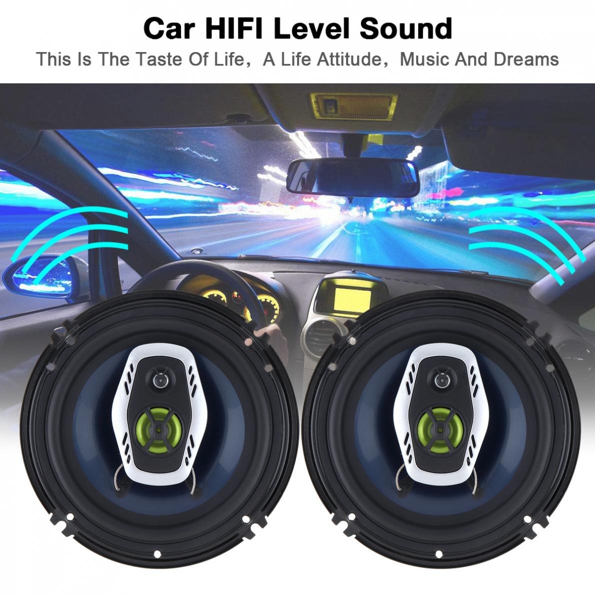 [해외]2pcs 6.5 Inch 16cm 600W 2 Way Car Coaxial Loud Speaker Auto Audio Music Stereo Full Range Frequency Hifi Loudspeakers/2pcs 6.5 Inch 16cm 600W 2 Wa