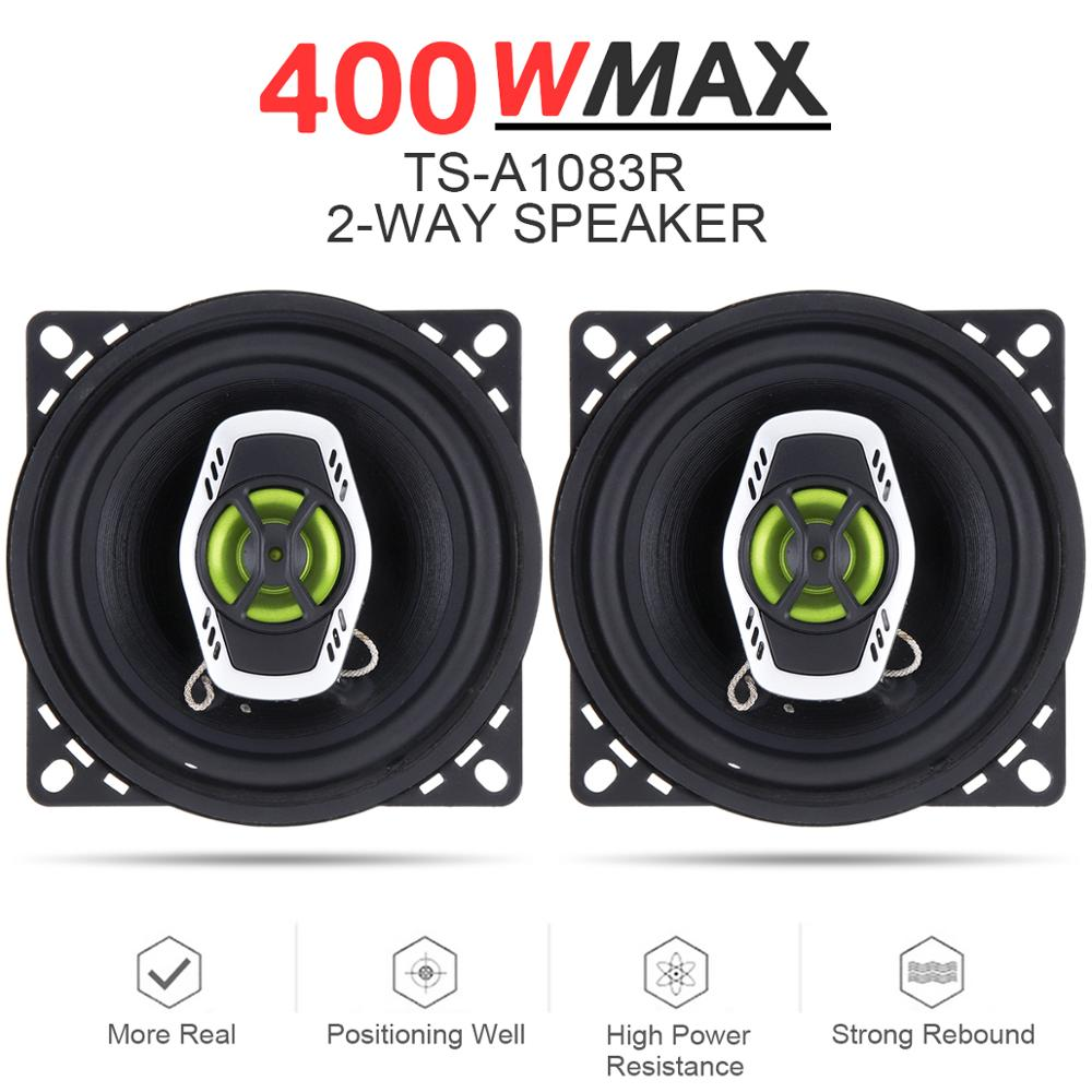 [해외]2pcs 4 Inch 10cm 400W 2 Way Hifi Car Coaxial Speaker Loudspeaker Auto Audio Music Stereo Full Range Frequency Loud Speakers/2pcs 4 Inch 10cm 400W