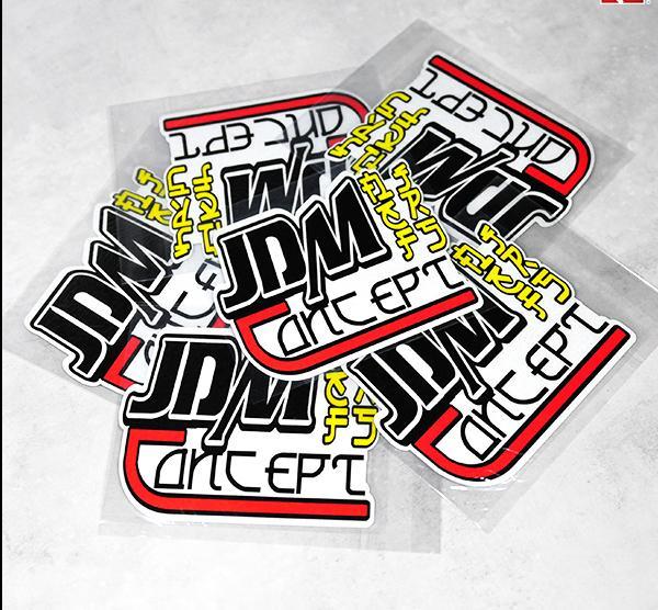 [해외]reflective Japanese JDM car sticker vinyl Japan  drift stickers for Civic  FIT adhesive motorcycle  ATV decals ATV car stylin/reflective Japanese
