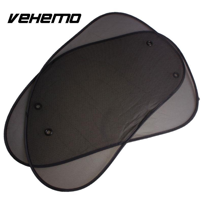 [해외]2pcs 65*38cm Car Side Window Sunshade  Auto glass Sun Shade Black Car Cover Mesh Visor Shield Screen Solar Protection 2017 New/2pcs 65*38cm Car Si