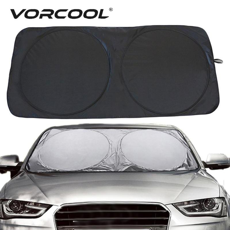 [해외]VORCOOL 150*70cm Car Sunshade Solar Reflective Silver Front Windowshield Sun Shade UV Rays Block Protector/VORCOOL 150*70cm Car Sunshade Solar Ref