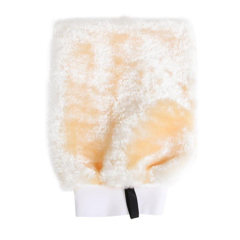 [해외]양면 가짜 양모 세차 장갑 두꺼운 청소 왁싱 미트