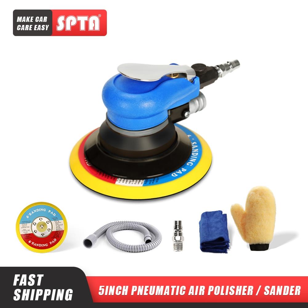 [해외]SPTA 6Inch Air Random Orbital Dual Action Sander Orbit Polisher Sanding Grinding Tools PneumaticSanding Discs Paper Pad/SPTA 6Inch Air Random Orbi