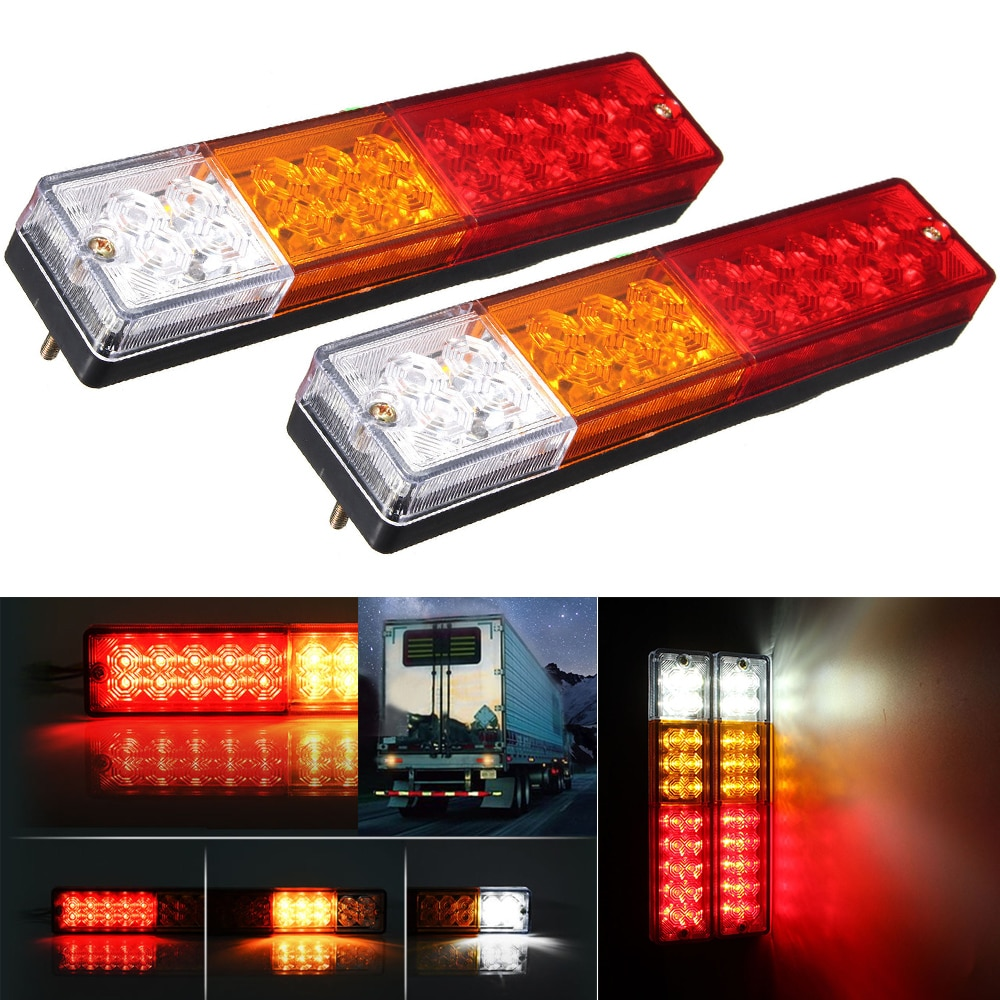[해외]2pcs 12V 20LED Car Truck Rear Tail Light Turn signal light Reversing light for trailers trucks Trailer utes boat caravans/2pcs 12V 20LED Car Truck