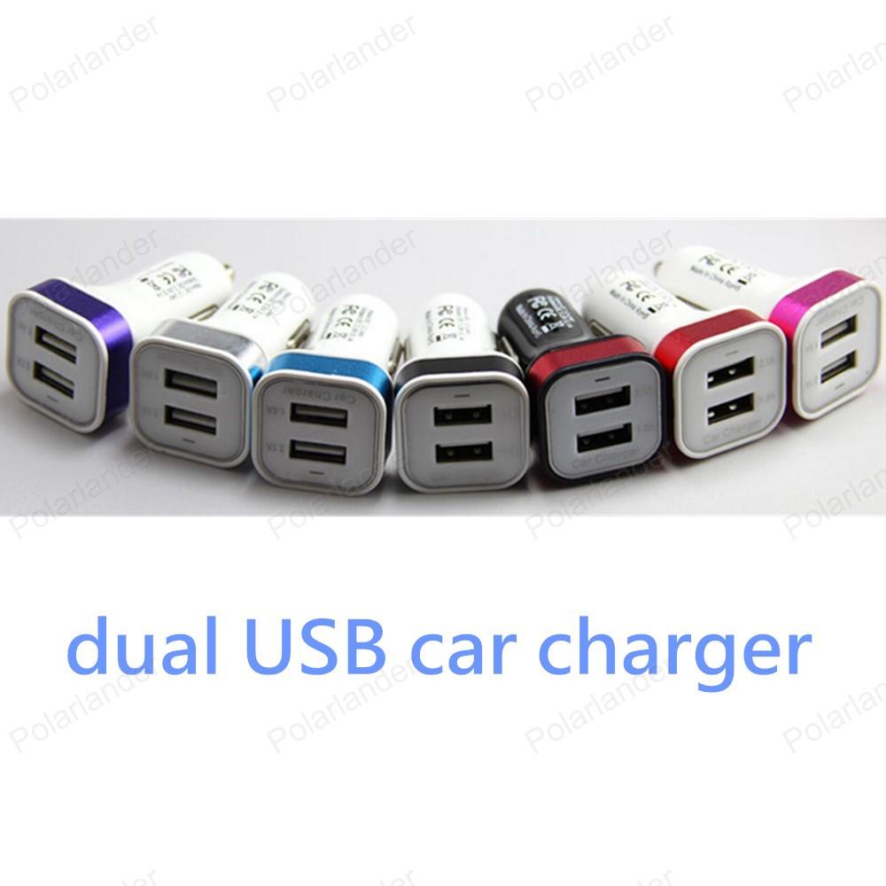 [해외]휴대 전화 및 디지털 카메라 등 2 USB 범용 자동 충전기 스타일링에 대 한 새로운 듀얼 USB 알루미늄 금속 스퀘어 자동차 충전기/new Dual USB Aluminum metal square car charger for mobile phones and di
