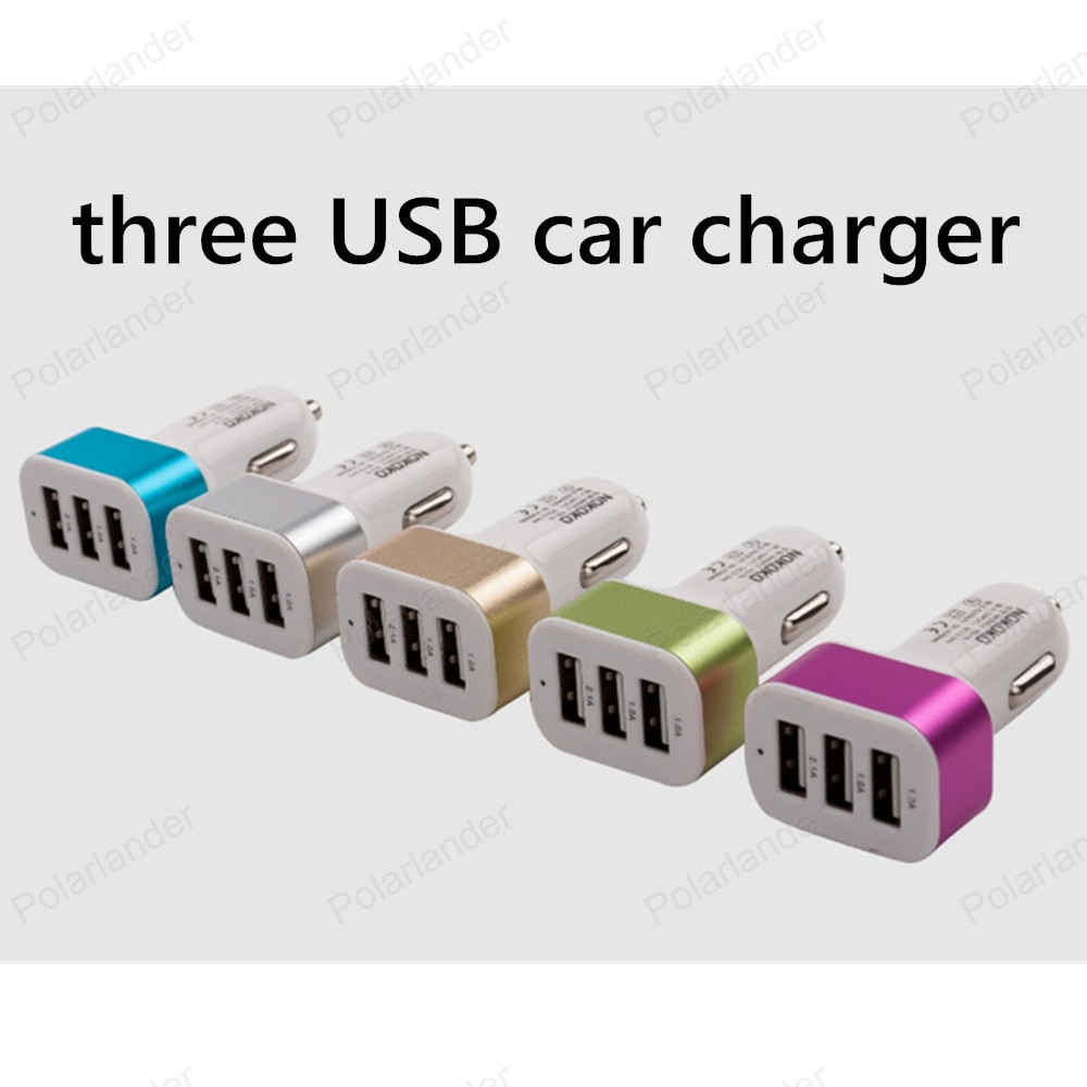 [해외]높은 전원 3 포트 USB 평방 자동차 충전기 2.1A 1.0A 휴대 전화 및 디지털 카메라 등 3 USB 자동 충전기/High power 3 Port USB square Car Charger 2.1A 1.0A three USB auto Chargers for
