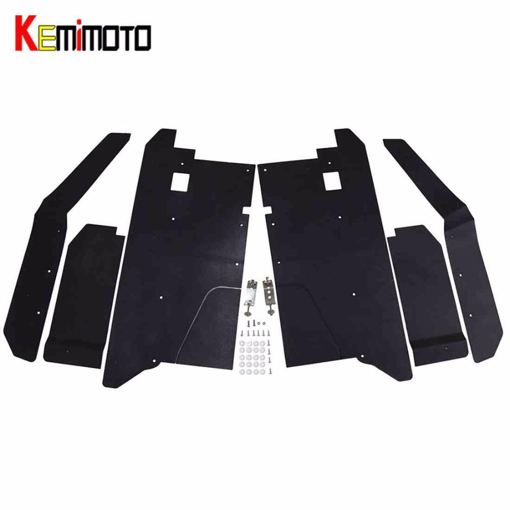[해외]KEMiMOTO UTV 펜더 플레어 머드 플랩 세트 폴라리스 레인저 XP 900 XP 1000 570 레인저 크루 XP 900 Crew XP 1000 2013-2018/KEMiMOTO UTV Fender Flares Mud Flaps Set for Polaris