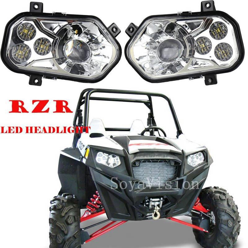 [해외]2017 신제품 폴라리스 ATV LED 헤드 라이트 키트, 2012-2013 폴라리스 RZR S 사이드 X 사이드 및 2012-2013 스포츠맨 RZR 800 900 570/2017 New Product Polaris ATV LED Headlight Kit Fo