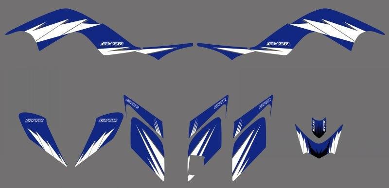 [해외]Blue New 스타일의 그래픽 스티커 Yamaha RAPTOR 700 YFM700 ATV 용 그래픽 키트 2006 2007 2008 2009 2010 2011 2012/Blue New STYLE TEAM DECALS STICKERS Graphics Kits f