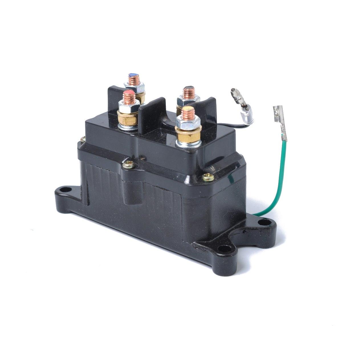 [해외]12V 250A 접촉기 릴레이 윈치 접촉기 ATV UTV 트럭 보트 용 전기 윈치 솔레노이드 릴레이 교체 스위치/12V 250A Contactor Relay Winch Contactor Electric Winch Solenoid Relay Replacement