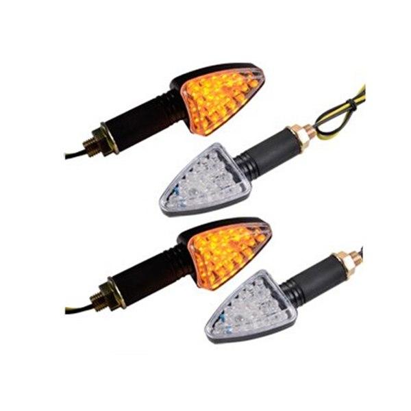 [해외]4pcs 삼각형 12V 오토바이 오토바이 18 SMD LED 호박색 LED 표시 등 표시 등/4pcs Triangle 12V Motorcycle Motorbike 18 SMD LEDs Amber LED Turn Signal Lights Indicator Lamp