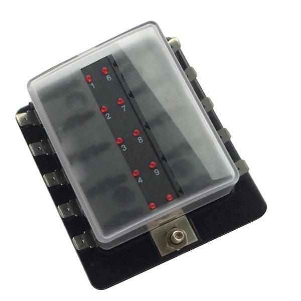 [해외]Durale 10-Way LED 조명 블레이드 퓨즈 BoxCover/Durale 10-Way LED Illuminated Blade Fuse BoxCover
