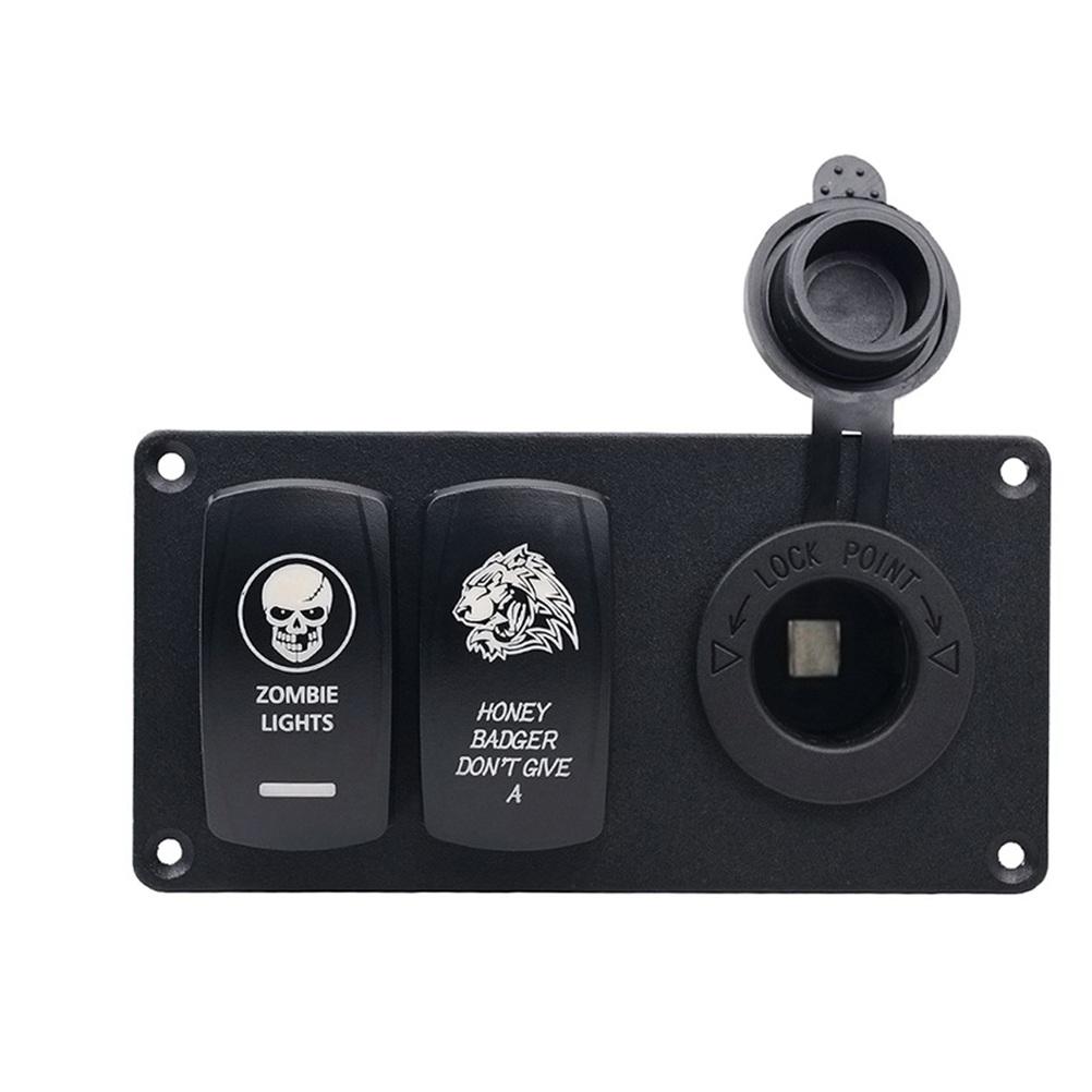 [해외]내구성있는 자동차 스위치 패널 자동차 용 시가 소켓 라이터 소켓/Durable Auto Switch Panel In-Car Cigarette Lighter Socket for Car Boat