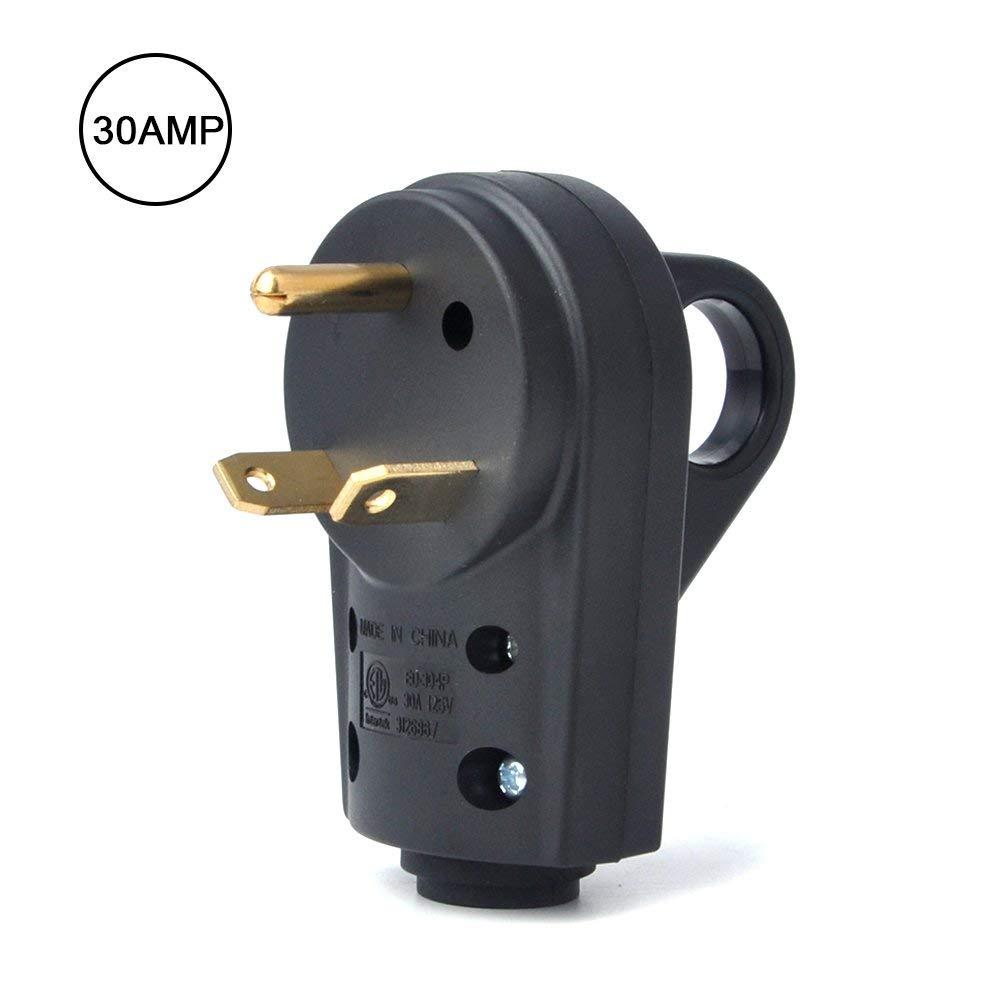[해외]KEMiMOTO 30 AMP RV 리셉터클 플러그 전기 플러그 어댑터 30A RV 차량의 거의 모든 브랜드 용 핸들 (남성 플러그)/KEMiMOTO 30 AMP RV Receptacle Plug Electrical Plug AdapterHandle (Male P