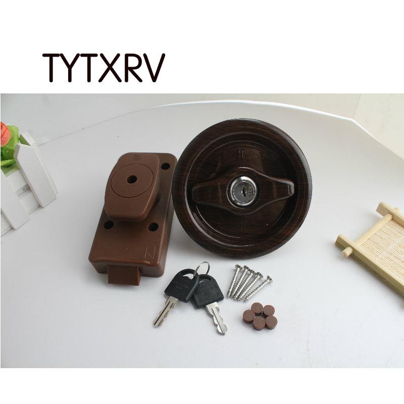 [해외]캐러반 악세사리 화장실 잠금 블랙 캠핑 모터 홈 욕실 도어 잠금 보트 해양 TYTXRV RV 부품/Caravan Accessories Toilet Lock Black Camper Motor Home Bathroom Door Lock Boat Marine TYTX