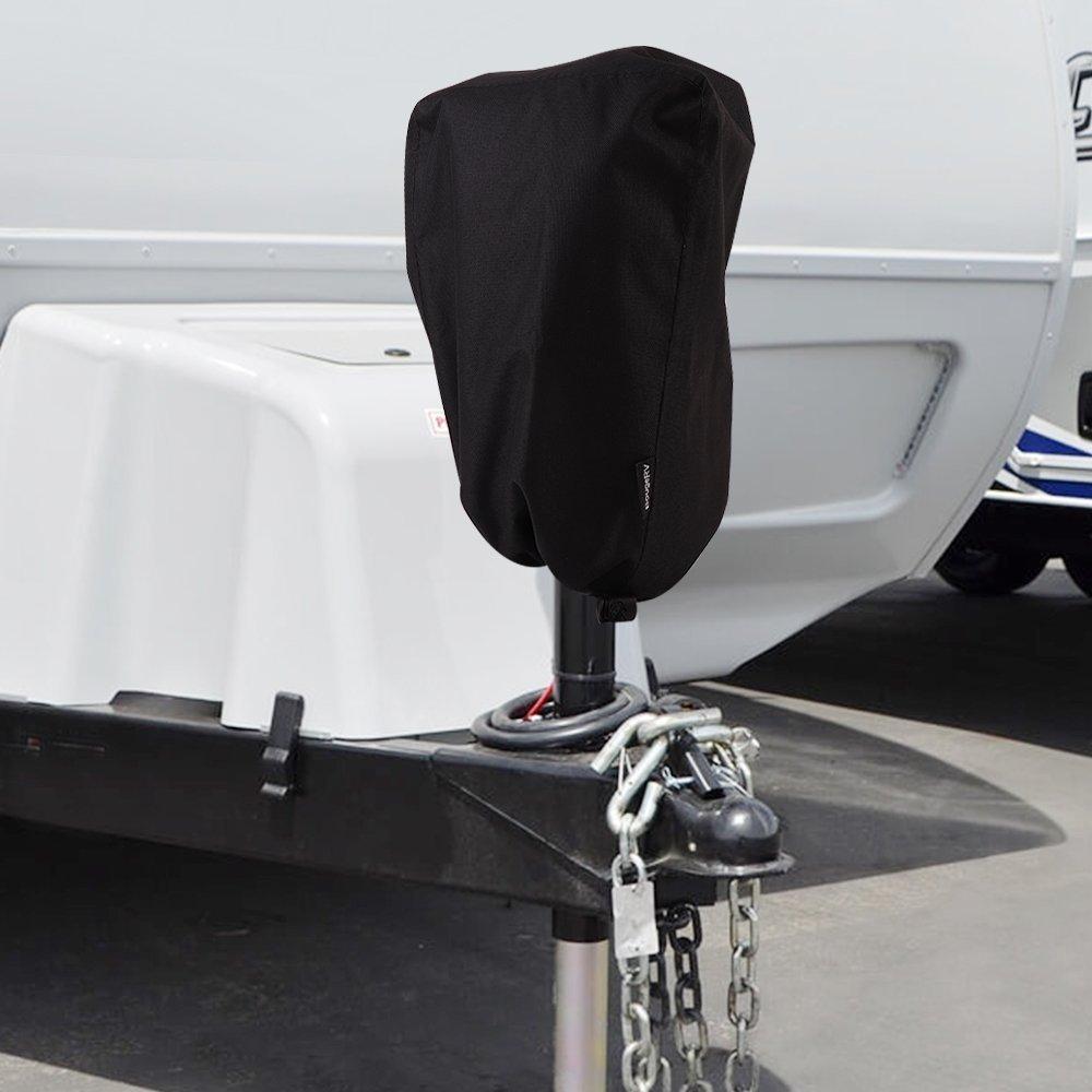[해외]KEMiMOTO 600D 전기 텅 잭 보호 커버 유니버셜 트레일러 RV 전기 텅 잭 보호 커버/KEMiMOTO 600D Electric Tongue Jack Protective Cover Universal Trailer RV Electric Tongue Jack