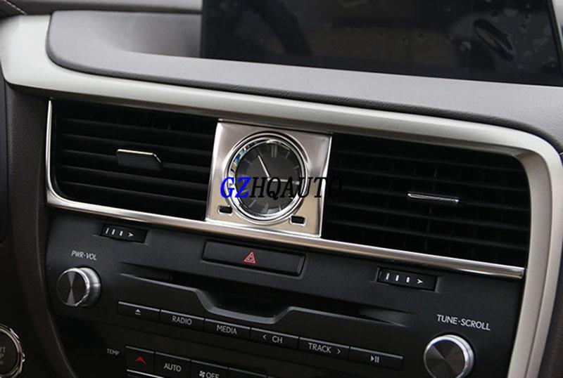 [해외]HengFei 렉서스 RX200t RX450h 모델 용 자동차 개조 콘센트에서 시계 장식 장식 sequins 프레임/HengFei Car modification for Lexus RX200t RX450h models In the control outlet wat