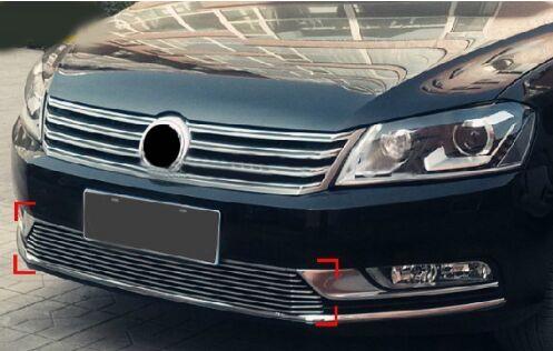 [해외]고품질 스테인레스 스틸 전면 그릴 주위 트림 레이싱 그릴 트림 폭스 바겐 PASSAT B7 2011-13 유럽 버전 1pcs/High quality stainless steel Front Grille Around Trim Racing Grills Trim For