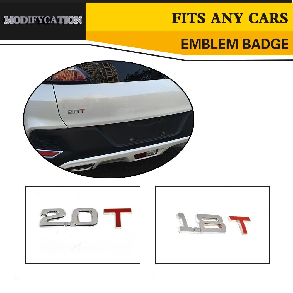 [해외]자동차 스타일링 합금 1.8T 2.0 T 엠블럼 배지 자동 스티커 엠블럼 배지 로고 모든 자동차에 적합/Car-Styling Alloy 1.8T 2.0 T Emblem Badges Auto Sticker Emblem Badge Logo Fit Any Cars