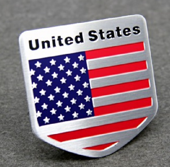 [해외]AMERICAN FLAG METAL ALUMINUM 엠 블 럼 배지 스티커 씰 미국 US 미국 쉴드/AMERICAN FLAG METAL ALUMINUM EMBLEM BADGE STICKERS DECALS USA US AMERICA SHIELD