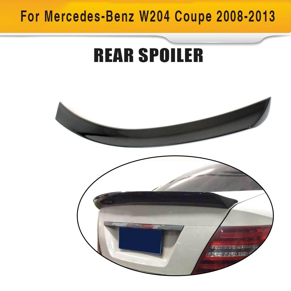 [해외]C 클래스 카본 파이버 뒷 트렁크 부트 스포일러 윙 립 메르세데스 벤츠 W204 C204 2 도어 쿠페 2008-2014 C63 AMG C200 C250 C300/C Class Carbon Fiber Rear Trunk Boot Spoiler Wing Lip f