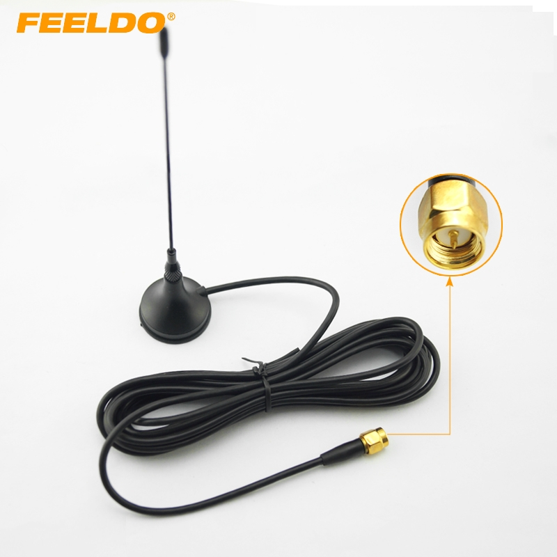 [해외]FEELDO 1Set Car SMA 커넥터 능동형 디지털 TV 안테나 AerialBuilt-in Amplifier/FEELDO 1Set Car SMA Connector Active Digital TV Antenna AerialBuilt-in Amplifier