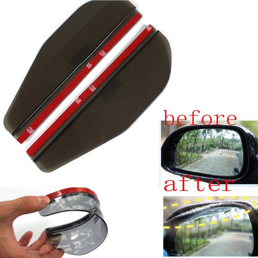[해외]2x 자동 BLK 가동 가능한 플라스틱의 후방 거울 Honda Hyundai Mazda Lancer을Rearview Sun / Rain 보드 눈썹 Toyota Camry VW GTI/2x Auto BLK Flexible Plastic Rear Mirror Rea