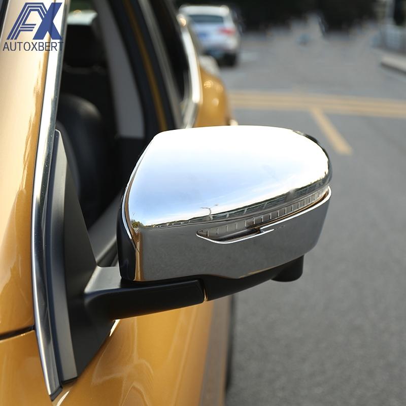 [해외]악세사리 퀸 카이 Jash 2011 2014 2015 - 2018 Rogue Sport Trim 리어 뷰 캡 오버레이 몰딩 용 크롬 도어 사이드 미러 커버/AX Chrome Door Side Mirror Cover For Nissan Qashqai J11 201