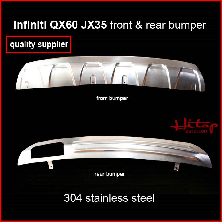 [해외]인피니티 JX JX35 QX60 2013-2015 스테인레스 스틸 스키드 플레이트 / 범퍼 보호대 가드, 앞 & A에 대한; 후면 2PCS, 필요한 보호/For Infiniti JX JX35 QX60 2013-2015 stainless steel skid