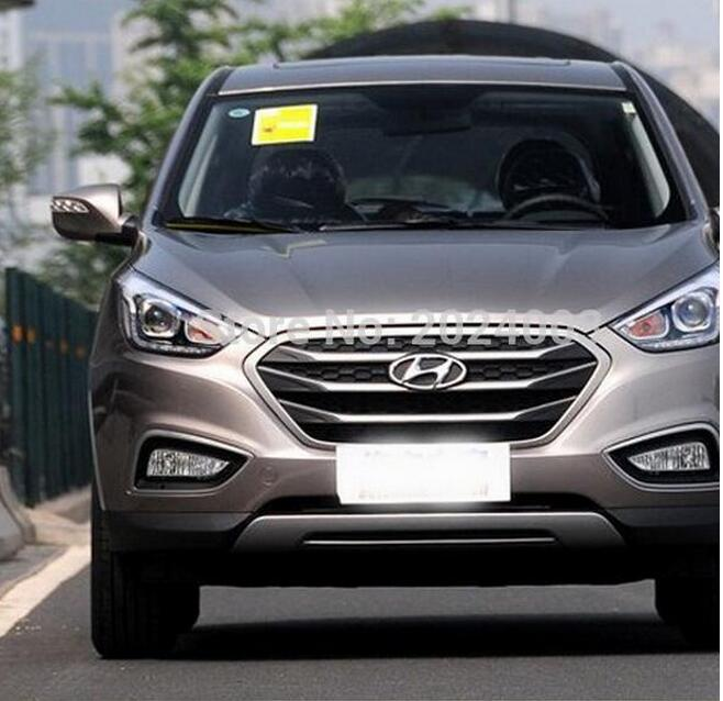 [해외]현대 ix35 고품질의 ABS 크롬 프론트 그릴 다시 끼 우고 들어 2010-2013 주위 트림 그릴 레이싱 트림./2010-2013 For Hyundai ix35 high quality ABS chrome front grille Refit around trim
