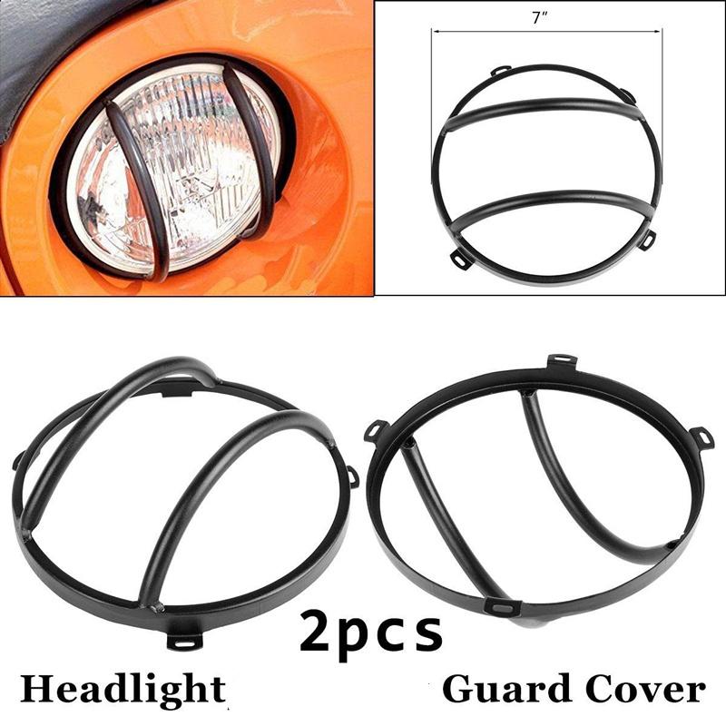 [해외]지프의 경우 JK 테일 라이트 가드 7 인치 전조등 경비원이 지프 랭글러를 위해 단 하나의 경비원을 돌립니다 JK JKU 루비콘 사하라 스포츠/For Jeep JK Tail Light Guards 7 Inch Headlight Guards Turn Single