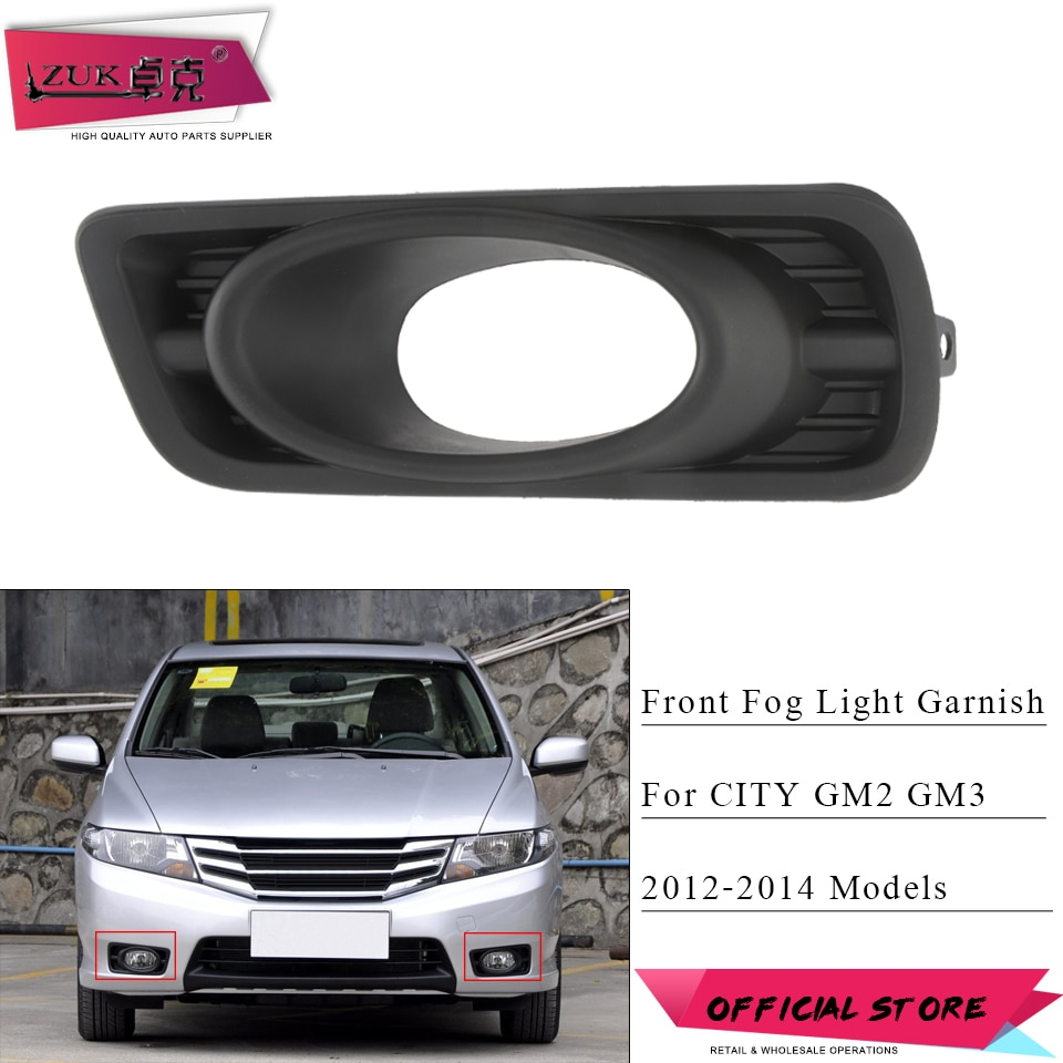 [해외]ZUK 앞 범퍼 안개 조명 안개 램프 커버 HONDA CITY 2012 2013 GM14 GM3 Foglights Foglamp 후드 트림 프레임 블랙/ZUK Front Bumper Fog Light Fog Lamp Cover Garnish For HONDA C