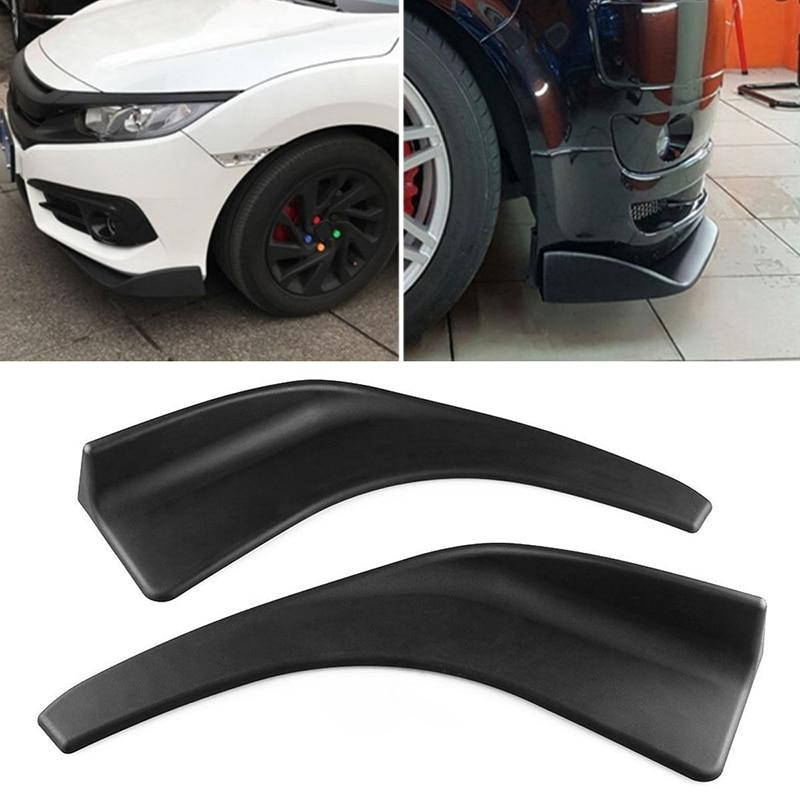 [해외]1 쌍 자동차 전방 디플렉터 스포일러 스플리터 기관총 범퍼 카다드 립 바디 삽 DXY88/1 Pair Car Front Deflector Spoiler Splitter Diffuser Bumper Canard Lip Body Shovels DXY88