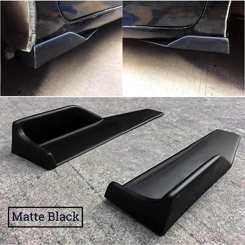 [해외]유니버설 매트 블랙 사이드 스커트 로커 스플리터 Winglet Canard Diffuser/Universal Matte Black Side Skirt Rocker Splitters Winglet Canard Diffuser
