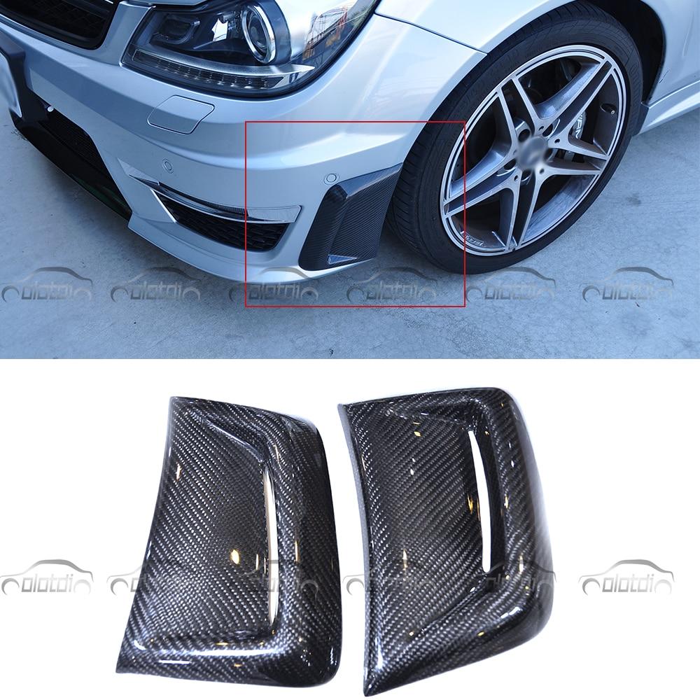 [해외]?메르세데스 w204 amg Benz C63 AMG 2008-2011 카본 파이버 카 스타일링 프론트 펜더 범퍼 벤트 마스크/ for Mercedes w204 amg  Benz C63 AMG 2008-2011 Carbon Fiber Car Styling Fron